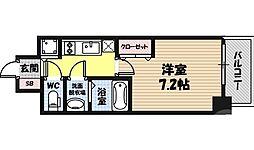 CHEZ・MOI・Yokozutumi 8階1Kの間取り