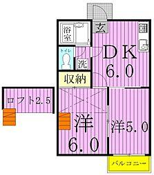 グレイスCHIKO[2階]の間取り
