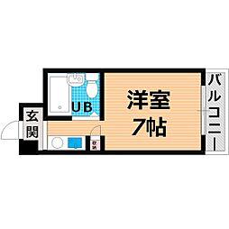 Osaka Metro谷町線 千林大宮駅 徒歩9分の賃貸マンション 2階1Kの間取り