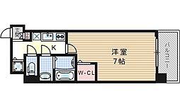 セオリー大阪ベイステージ[11階]の間取り