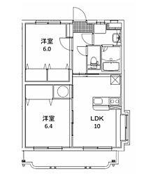 エクレール 1[203号室]の間取り