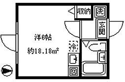 インペリアル東新宿[105号室]の間取り