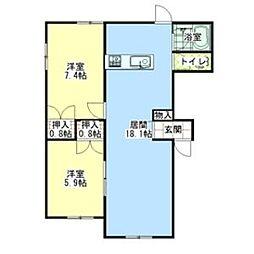 ボンヌジュルネ[2階]の間取り