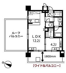 東京都大田区西蒲田2丁目の賃貸マンションの間取り