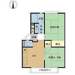 フェリーチェ KM A棟[101号室]の間取り