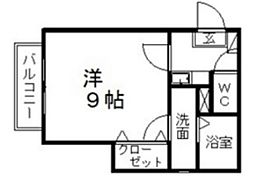 クレフラスト浅田町[2階]の間取り