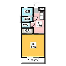 シェモア浜崎A[1階]の間取り
