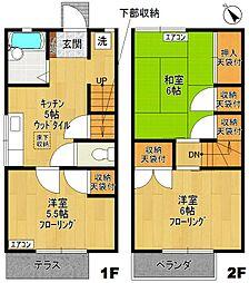 [テラスハウス] 神奈川県川崎市多摩区菅稲田堤1丁目 の賃貸【/】の間取り