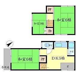 [テラスハウス] 大阪府豊中市東泉丘2丁目 の賃貸【/】の間取り