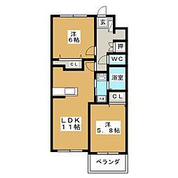 プラン・ドール[1階]の間取り