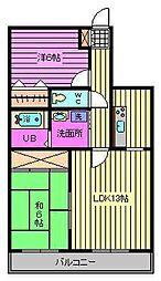 グリーンシティー五番館[3階]の間取り