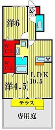 (仮)D-room八ヶ崎[1階]の間取り