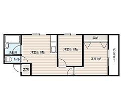 サンウィズOSAKA[2階]の間取り