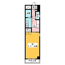 かむろビル 西館[4階]の間取り
