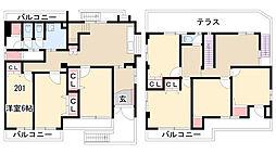 小幡シェアハウス[201号室]の間取り