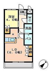 宮崎県宮崎市神宮2丁目の賃貸アパートの間取り