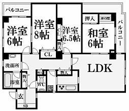 グラン・ドムール夙川[1階]の間取り