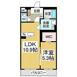 (仮)広丘駅西口ブレインマンション[1階]の間取り