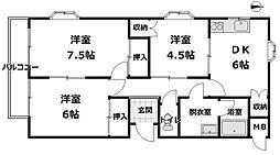 シンセリティー山崎[3階]の間取り