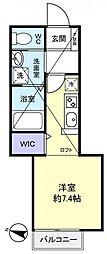 エターナル勝田台[2階]の間取り