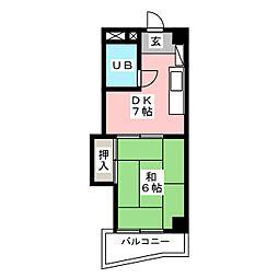 OCTO玉川[5階]の間取り