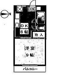 マンションふじ[305号室]の間取り