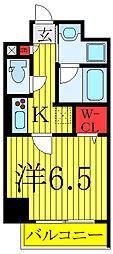 JR埼京線 板橋駅 徒歩3分の賃貸マンション 1階1Kの間取り