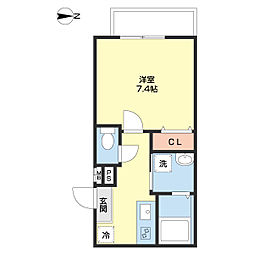 JR和歌山線 和歌山駅 徒歩9分の賃貸アパート 1階1Kの間取り
