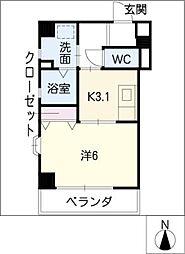 愛知県名古屋市千種区清住町1丁目の賃貸マンションの間取り
