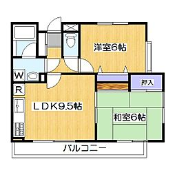 メゾンマロニエ[2階]の間取り