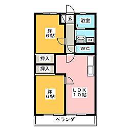 ミューズクリオ1[4階]の間取り