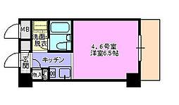 ドミトリー茅ヶ崎404[4階]の間取り