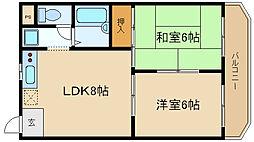 兵庫県伊丹市北伊丹7丁目の賃貸マンションの間取り
