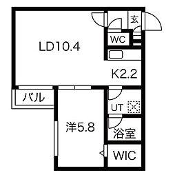 仮)南郷通14丁目南MS[4階]の間取り