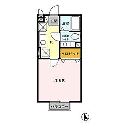 ST北野[2階]の間取り
