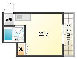 フリーディオ御堂[2階]の間取り