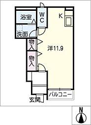 フォースフィールド[1階]の間取り