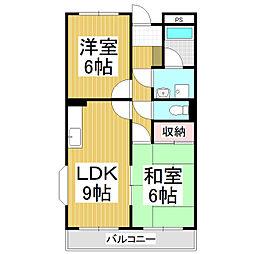 ファミーユ鎌倉[3階]の間取り