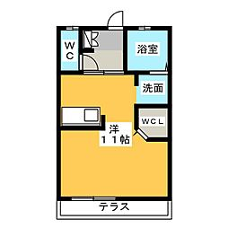 ボートハウス[1階]の間取り