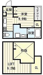 Casa Comodo[1階]の間取り