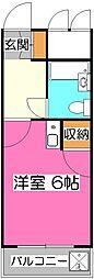 煉瓦館61[2階]の間取り