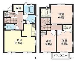 [テラスハウス] 埼玉県さいたま市浦和区領家3丁目 の賃貸【/】の間取り