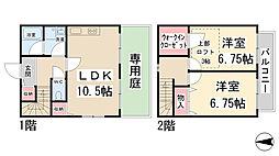 [テラスハウス] 兵庫県宝塚市花屋敷荘園1丁目 の賃貸【/】の間取り