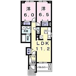 サンモリッツC[1階]の間取り