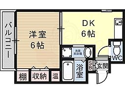マンションシグマ 3階1DKの間取り