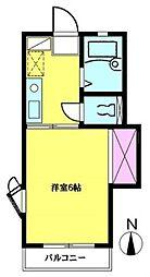 神奈川県横浜市金沢区平潟町の賃貸アパートの間取り