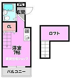 JPアパートメント生野III[6階]の間取り