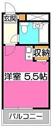 JUN新所沢A[2階]の間取り