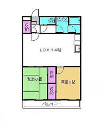 千葉県松戸市新松戸3丁目の賃貸マンションの間取り