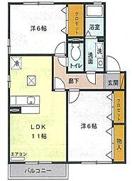 ピエルテル三番館[1階]の間取り